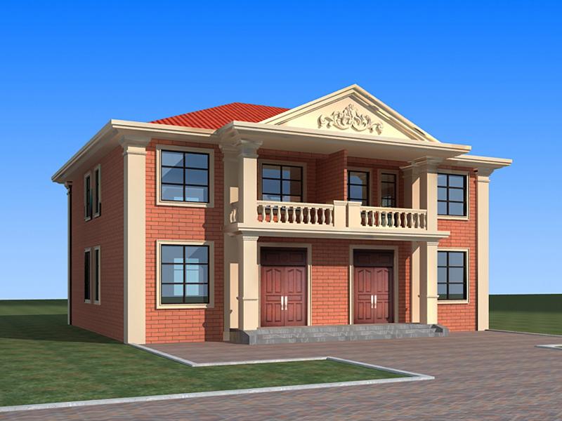 农村二层自建双拼房屋设计图,造价合理,布局完善