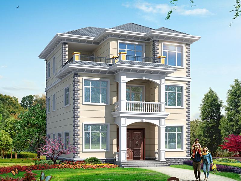 经典三层自建别墅设计图,带露台实用别墅设计