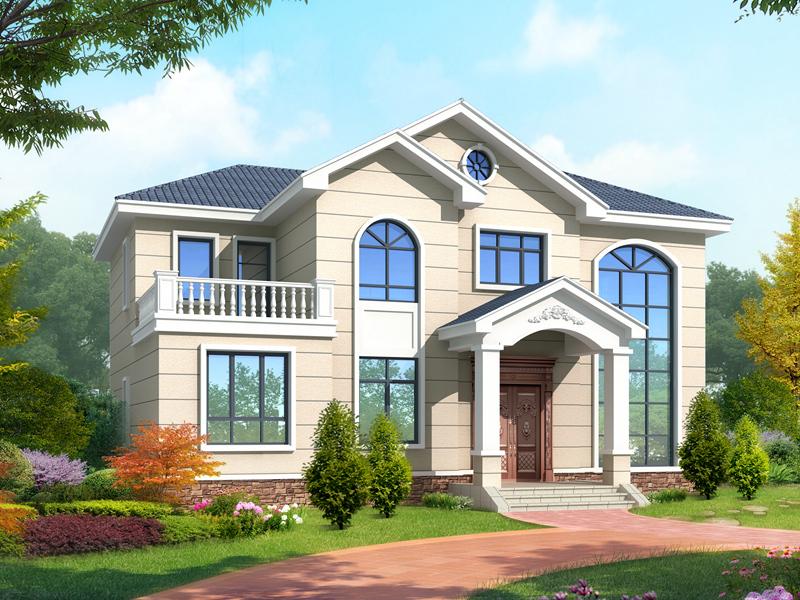精品二层自建别墅设计图,简欧自建房屋设计