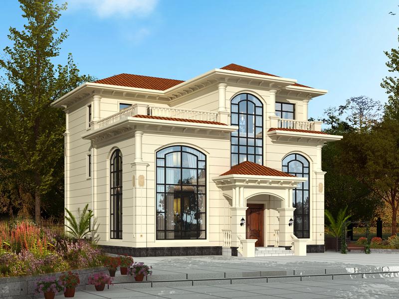 精品三层复式别墅设计图,欧式自建房屋设计