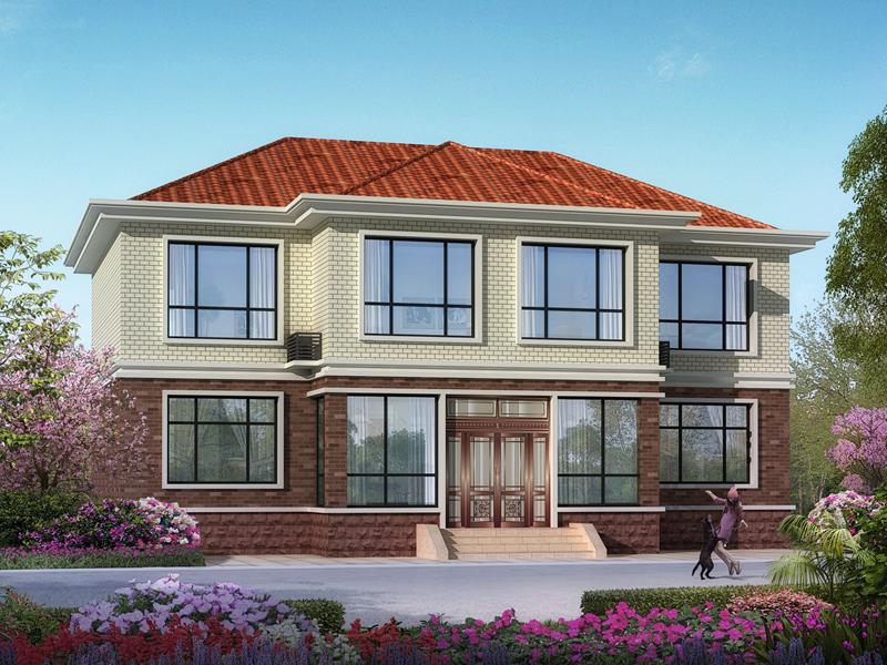 新中式二层自建房设计图纸,带院子