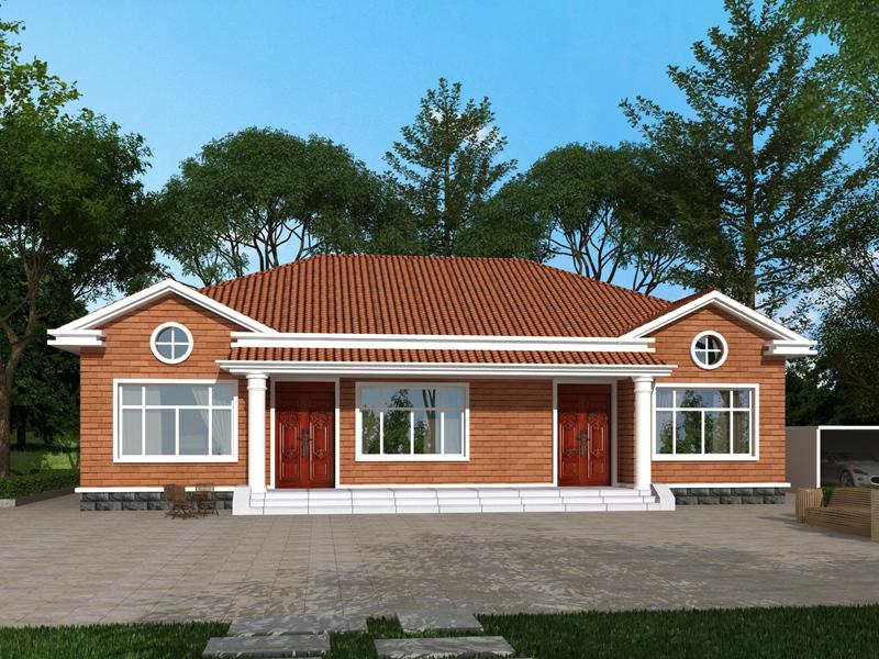 新农村一层自建房设计图纸,南北通透,