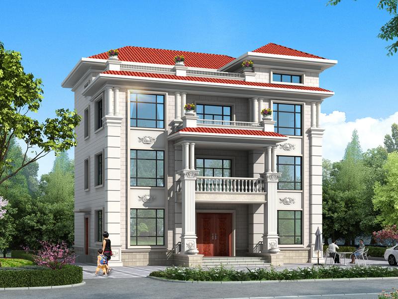 四层别墅自建房设计图纸,农村自建房设计图