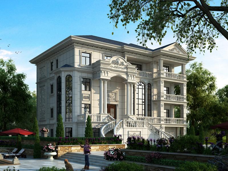 豪华欧式四层别墅设计图纸,低调奢华,顶层带大露台