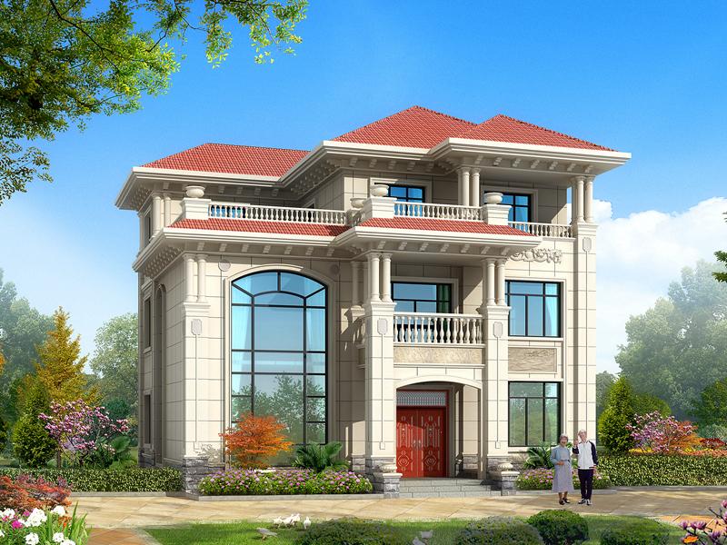 三层复式别墅自建房,带大露台,采光好,