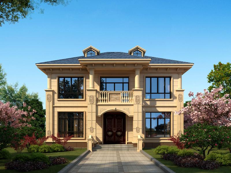欧式豪华两层别墅设计图纸,农村自建房施工图纸