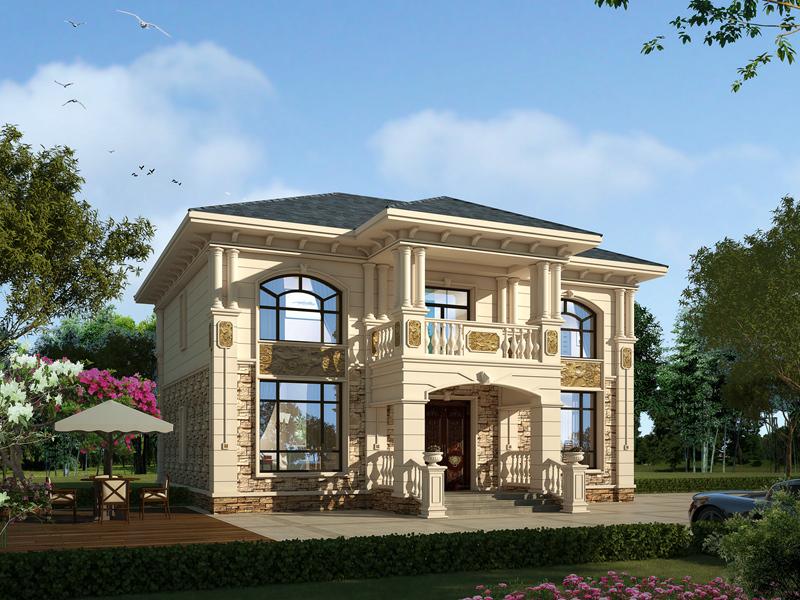 欧式豪华二层别墅设计,卧室较多,布局合理
